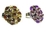 Šperky prsteny s jasným krystaly — Stock fotografie