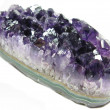 Purple amethyst crystals geode — Stock Photo