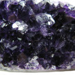 Amethyst crystals texture geological background — Foto de stock #10540341