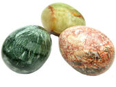 Geological mineral eggs semigem — Stock Photo