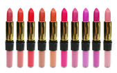 Lipgloss lipstick cosmetic set for makeup — Stock Photo