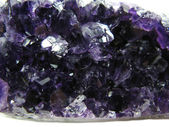 Amethyst crystals texture geological background — Stock Photo