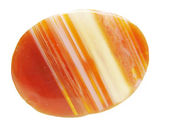 Round carnelian crystal — Stock Photo