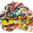 Heap of colored beads — Stock Photo