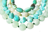 Gröna pärlor — Stockfoto