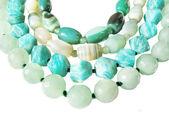 Green beads — Foto Stock