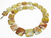 Yellow jasper necklace — Stock Photo