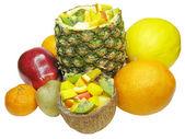 Tropical fruit salad — Stock Photo