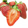 Stock Photo: Strawberry cut
