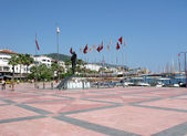 Ataturk square in marmaris — Stock Photo
