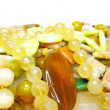 Heap of yellow beads — Stock Photo