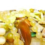 Heap of yellow beads — Stock Photo #9627257