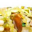 Heap of yellow beads — Stock Photo