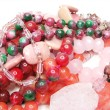 Heap of red and pink beads — Stock Photo #9627298