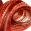 Royalty-Free Stock Photo: Red highlight hair texture background