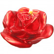Red rose spa candle scented - Stock Photo