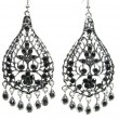 Jewelry earrings with bright black crystals — ストック写真 #9646399