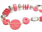 Röda smycken pärlor — Stockfoto