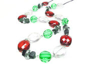 Red green and white jewellery beads — Стоковое фото