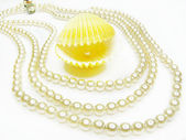 Pearl jewellery beads — Stock Photo