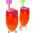 Stock Photo: Fruit cold juice drinks with berries