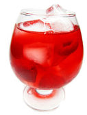 Alcohol liqueur cocktail with rasbberry — Stock Photo