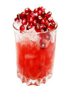 Alcoholic cocktail with pomegranate — Stock Photo