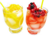 Alcohol punch cocktail with berries — Stock Photo