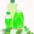 Shower gel bottle with fir extract — Stock Photo