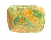 Jaspis zielony i żółty kryształ — Zdjęcie stockowe