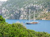 Aegean sea landscape yachting — Stock Photo