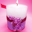Spa aroma scented candle — Stock Photo