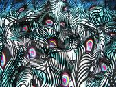 Satijn peacock abstract textuur achtergrond — Stockfoto