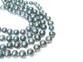 Black pearl beads — Stock Photo