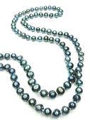 Black pearls beads jewellery — Stock Photo