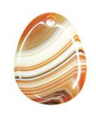 Round carlelian crystal pendant — Stock Photo