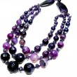 Amethyst semiprecious beads necklace - Stock fotografie