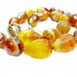 Agate semiprecious beads necklace — Stock Photo