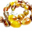 Agate semiprecious beads necklace — Stock Photo #9749102