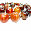 Sardonyx semiprecious beads necklace — Stock Photo
