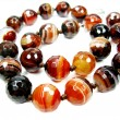 Sardonyx semiprecious beads necklace — 图库照片 #9749224