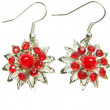 Jewelry earrings with bright crystals — Zdjęcie stockowe #9749675