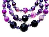 Amatistas perlas semipreciosas — Foto de Stock