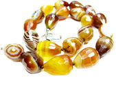 Agate semiprecious beads necklace — Stok fotoğraf