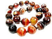 Sardonyx semiprecious beads necklace — Stok fotoğraf