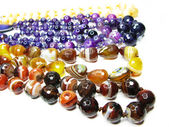 Group of semiprecious beads — Stok fotoğraf