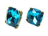 Šperky náušnice s jasným krystaly — Stock fotografie