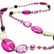 Bright pink jewellery beads — Stock Photo