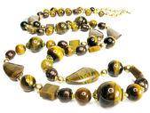 Tiger öga semigem smycken pärlor — Stockfoto