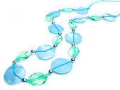 Blå och gröna smycken pärlor — Stockfoto